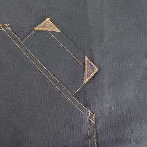 ede3ed4454e Very well made and designed canvas waist work apron, made in the USA of 100%  cotton with aged copper rivets and leather straps (removable for easy  washing).